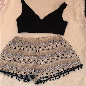 Two piece romper